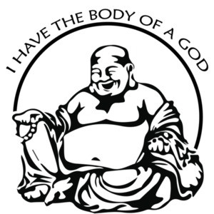I have the body of a god - funny fat guy t-shirt