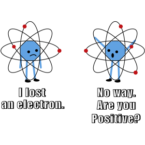 I lost an electron. No way. Are you positive. Funny T-Shirt