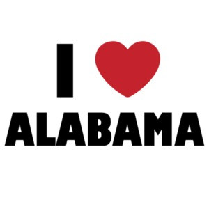 I love alabama - alabama t-shirt