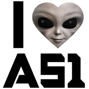 I love area 51 - Alien - Nevada T-Shirt