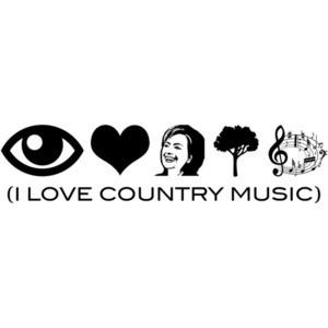 I Love Country Music Anti Hillary Clinton T-Shirt