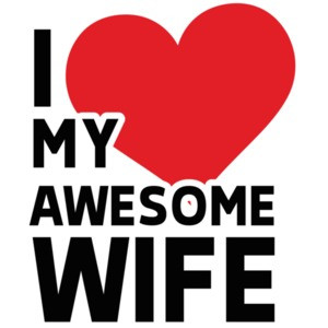 I love my awesome wife - wife t-shirt