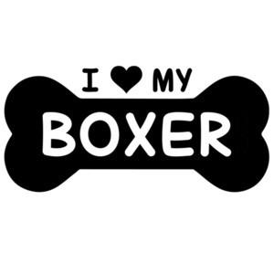 I love my boxer - dog bone - boxer t-shirt