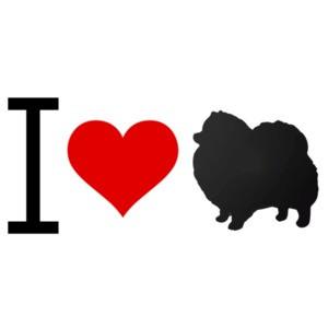 I love Pomeranian - Pomeranian T-Shirt