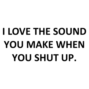 I LOVE THE SOUND YOU MAKE WHEN YOU SHUT UP. Shirt