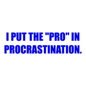 "I PUT THE ""PRO"" IN PROCRASTINATION. Shirt"