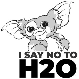 I say NO to H20 - Gizmo - Gremlins - 80's T-Shirt