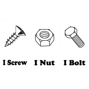 I Screw I Nut I Bolt Shirt