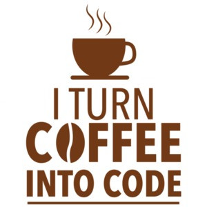 I turn coffee into code - funny programming t-shirt - coding t-shirt
