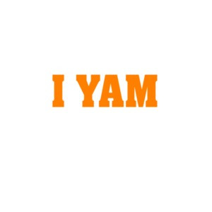 I YAM. Funny Couple's T-shirt
