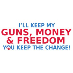 I'll Keep My Guns, Money And Freedom You Keep The Change Anti Obama T-shirt