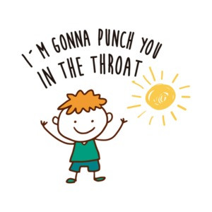 I'm gonna punch you in the throat - funny t-shirt