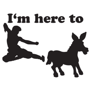 I'm Here To Kick Ass T-shirt