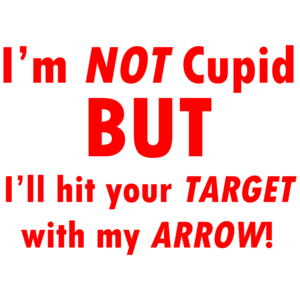 I'm Not Cupid But I'll Hit Your Target With My Arrow!  Funny Valentine's Day Shirt