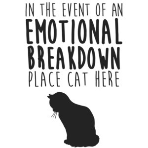In the event of an emotional breakdown place cat here t-shirt