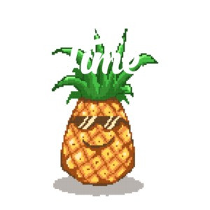 It's Summer Time Pineapple Retro Cute T-Shirt