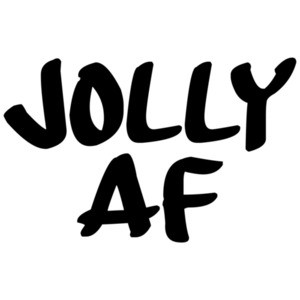 JOLLY AF - JOLLY AS FUCK - Funny Christmas T-Shirt