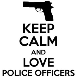 Keep calm and love police officer - pro cop t-shirt
