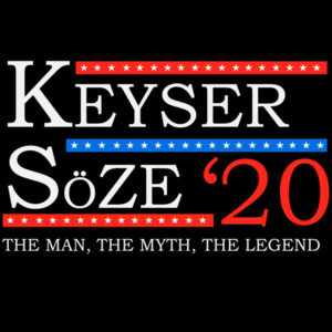 Keyser - Soze 2020 - The man, the myth, the legend - 2020 Election - The Usual Suspects 90's T-Shirt