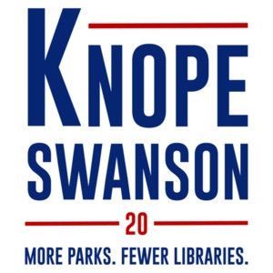 Knope Swanson 20 - More Parks. Fewer Libraries. Parks and Recreation T-Shirt - 2020 Election T-Shirt