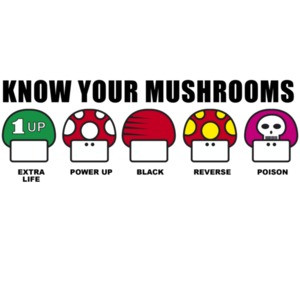 Know Your Mushrooms - Nintendo T-Shirt
