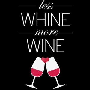 Less whine - more wine - funny wine t-shirt