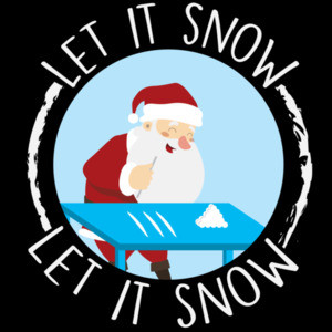Let it snow - Santa Cocaine - Banned by Walmart - Christmas T-Shirt
