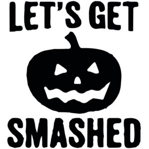 Let's get smashed - halloween pumkin t-shirt