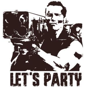 Let's Party - Commando - Arnold Schwarzenegger - 80's T-Shirt