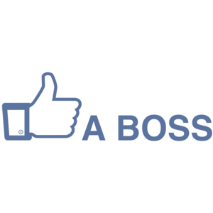 Like A Boss Funny Facebook Shirt