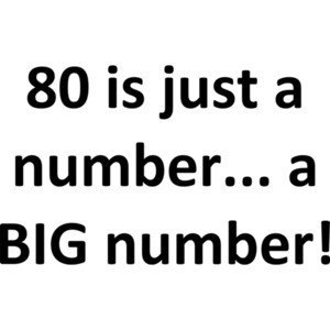 80 is just a number... a BIG number! Happy Birthday T-Shirt Shirt