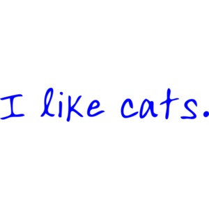 I like cats. Funny T-Shirt Shirt