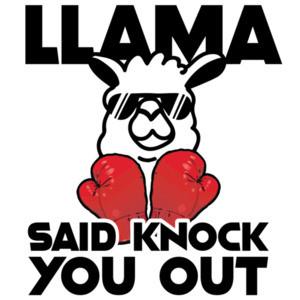 LLama said knock you out - LL Cool J 80's Parody T-Shirt