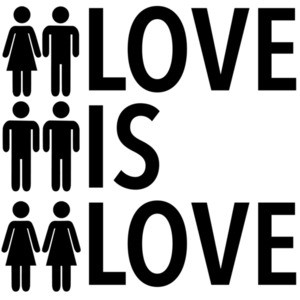 Love is love - gay pride t-shirt