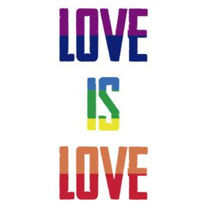 Love is love rainbow - gay pride t-shirt