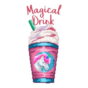 Magical Unicorn Drink Retro T-Shirt