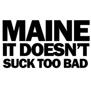 Maine it doesn't suck too bad - Maine T-Shirt