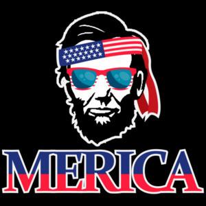 Merica - Abraham Lincoln - patriotic t-shirt