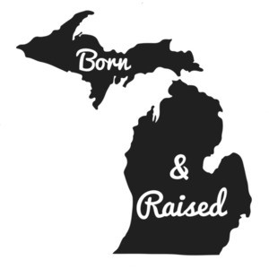 Michigan state pride born and raised - Michigan T-Shirt