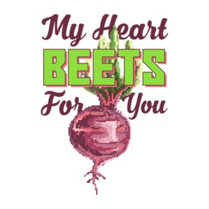 My Heart Beets For You Retro Pun T-Shirt
