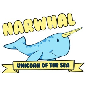 Narwhal Unicorn Of The Sea - Funny T-Shirt