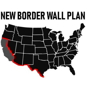 New Border Wall Plan - Republican T-Shirt - Pro Trump T-Shirt