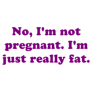 No, I'm Not Pregnant. I'm Just Really Fat. Shirt
