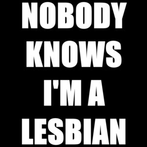 Nobody knows I'm a lesbian - funny t-shirt