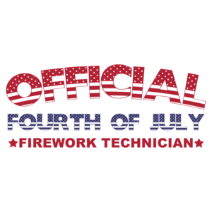 Official 4th Of July Firework Technician - Fourth Of July T-shirt