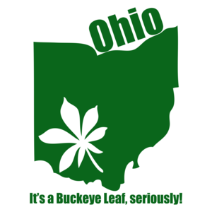 Ohio, It's A Buckeye Leaf Marijuana T-shirt