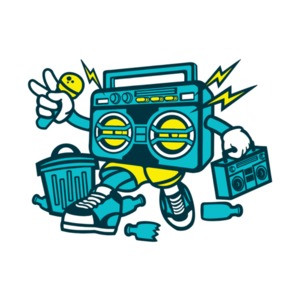 Old School Boombox T-Shirt