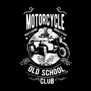 Old School Motorcycle Club Retro Biker T-Shirt