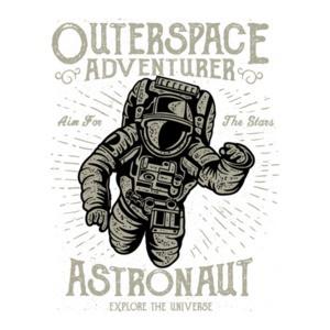 Outer Space Adventurer Astronaut Retro Recruitment Poster T-Shirt