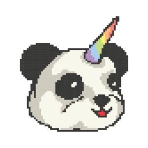 Panda Unicorn Cute Retro T-Shirt